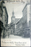 LETTONIE  RIGA GRUSS AUS RIGA  MARSTALL  STRASS CARTE 1902 - Letonia