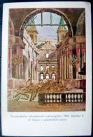 HONGRIE EMLEK A SZOMBATHELYI SZEKESEGYHAZROL  SEPTEMBRE 1947 CATHEDRALE BOMBARDEE 4 CARTES - Hongrie