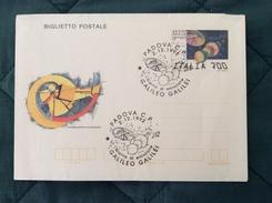 Biglietto Postale Galileo Galilei Con Annullo Primo Giorno Di Emissione - Entiers Postaux