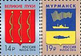 2016 RUSSIA Defin. COA Of Velikie Luki, Murmansk. 2v: 14,19 - Unused Stamps