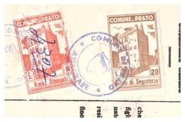 Prato. 1959. Marche Municipali  Su Documento - Italie