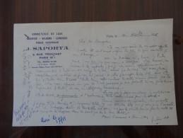 Paris 8eme Mr Saporta Bonneterie 1957 - Transports