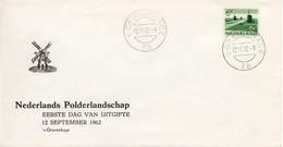 NVPH Nr. 793 Op Envelop - Blanco / Open Klep (1962) - FDC