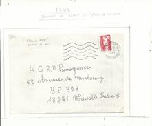 FAUX BRIAT Dit De Marseille ..perforé 11 Dents....peu Courant à Voir..... - Poststempel (Briefe)