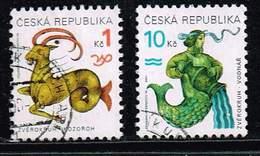 Tschechische Republik 1998, Michel# 199 - 200 O Tierkreiszeichen / Horoskop - Gebraucht