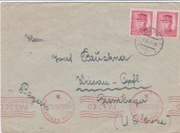 Censored Cover Posted Ceskoslovensko 7.3.1947 To Germany - Cachet U.S Civil Censorship Kulmbach  (SKO16-39) - Militaria