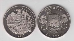 MAYOTTE 1 Franc 2015 Archeopteryx, Unusual Coinage - Monete