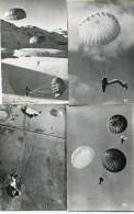 PARACHUTISME(CARTE PHOTO) LOT DE 13 PHOTOS - Parachutisme