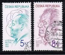 Tschechische Republik 2000, Michel# 254 - 255 O Vítezslav Nezval (1900-1958)/Gustav Mahler (1860-1911) - Tschechische Republik