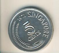 Singspur V. 1971  5 Cents  (49091) - Singapur