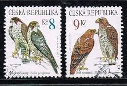 Tschechische Republik 2003, Michel# 375 - 376 O Peregrine Falcon (Falco Peregrinus)/Booted Eagle (Hieraaetus Pennatus) - Gebraucht