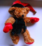 Petit Ours Père Noël Avec écharpe Et Bonnet - Teddybären