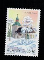 Aland 2002 Christmas Noel Weihnachten Natale Saltviks Church - Chiesa Di Saltviks  1v Complete Set ** MNH - Aland