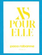 Cartes Parfumées Carte XS POUR ELLE  De PACO RABANNE - Perfume Cards