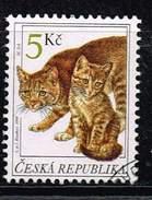 Tschechische Republik 1999, Michel# 205 O Domestic Cat (Felis Silvestris Catus) - Tschechische Republik