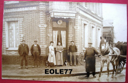 27 - Carte Photo - LE NEUBOURG - Cafe - BUVETTE DE LA GARE - Rue Chambellan - Gare Petite Vitesse - Attelage - Le Neubourg