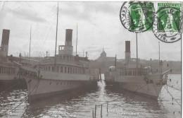 GENF → Dampfschiff-Flotte Im Hafen Anno 1916 - GE Genève