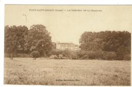 PONT SAINT ESPRIT - Le Château De La Martine - Bon état - 2 Scans - Pont-Saint-Esprit