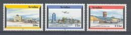 Ncp0278 TRANSPORT LUCHTVAART LUCHTHAVEN VLIEGTUIGEN PLANES AIRPORT FLUGZEUG ARUBA 2002 PF/MNH - Vliegtuigen