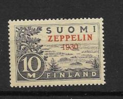 1930 MNH  Finland Zeppelin Postfris** - Finland