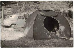 SAINT PIERRE DE VENACO SANTO PIETRO DI VENACO 1 Photo + 1 Carte Photo Vieille Voiture Citroën Peugeot Renault Camping - Ajaccio