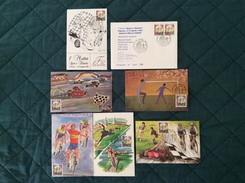 """Cofanetto Con 6 Cartoline Sportive 1^ Mostra """"Sport E Filatelia"""" 4-4-1993 VIgnola (MO) - Cartoline"""