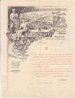 Paris 1888 Circulaire Très Illustrée Imprimerie E Pichot 72 Quai Jemmapes. Complet Tb état. - France