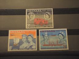 GRENADA - 1961 MEZZI DI TRASPORTO  3 VALORI - NUOVI(++) - Grenada (...-1974)