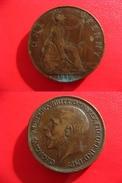 Grande-Bretagne - Great Britain - One Penny 1916 Coins Choqués 4305 - D. 1 Penny