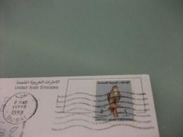 STORIA POSTALE FRANCOBOLLO COMMEMORATIVO UNITED ARAB EMIRATES DUBAI  WE ARE HERE IL MONDO VISTO DALLO SPAZIO - Emirati Arabi Uniti