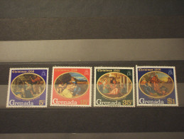 GRENADA - 1968 NATALE/QUADRI  4 VALORI - NUOVI(++) - Grenada (...-1974)