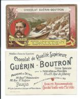 Chromo NINDEMAAN Pôle Nord Artique Jeannette  Explorateurs Pub: Chocolat Guérin-Boutron TB 105 X 65 Mm - Guérin-Boutron