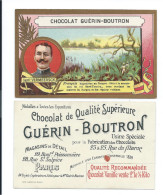 Chromo VERMEERSCH Bourgou Afrique  Explorateurs Pub: Chocolat Guérin-Boutron TB 105 X 65 Mm - Guérin-Boutron