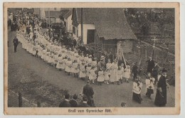 PROCESSION,GRUSS VOM GYMNICHER RITT,GYMNICH,1919 - Sonstige