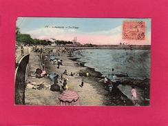 44 LOIRE ATLANTIQUE, SAINT-NAZAIRE, La Plage, Animée, 1906, (Delaveau) - Saint Nazaire
