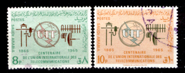 Arabia-Saudita-130 - 1965 - Yvert & Tellier N. 249, 250 (o) - Privi Di Difetti Occulti. - Saoedi-Arabië