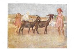 PRO JUVENTUTE-KARTE  → Kinder Und Ziegen   ►13.01.1926◄ - Lettres & Documents