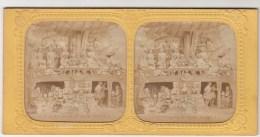 IMAGE STEREOSCOPIQUE TRANSPARENTE COLIRISEE CARTON FORT 17,5 X 8,7 Cms-L´AFRICAINE 3ème ACTE SCENE I - Photos Stéréoscopiques