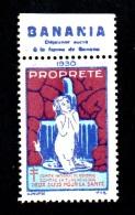 France - Vignette De Propreté / Lutte Contre La Tuberculose - Pub: BANANIA - 1930** (verso Voir Scan) - Erinnophilie
