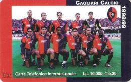 *ITALIA: WORLD TELECOM - CAGLIARI CALCIO* - Scheda Usata - Italy
