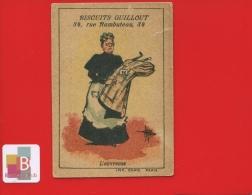 Biscuits Guillout Rue De Rambuteau Paris Jolie Chromo Illustrateur Guillaume Métiers Ouvreuse Théâtre - Unclassified