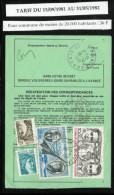 ORDRE De REEXPEDITION   Définitif   N° 755 A   Tarif Du 15/09/1981 Au 31/05/1982 Commune De - De 20000 Habitants (36 F) - Poststempel (Briefe)