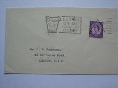 GB 1960`s COVER WITH BEXHILL SLOGAN POSTMARK PLUS TRIANGLE DIE 526 - Briefe U. Dokumente