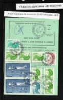 ORDRE De REEXPEDITION   Définitif   N° 755 B   Tarif Du 02/07/1984 Au 31/07/1985 Commune De - De 20000 Habitants (46 F) - Marcophilie (Lettres)