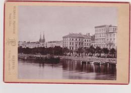HAMBOURG - Alsterdamm, Alsterhôtel - Photo Ancienne 9,5 X 13 Sur Carton - Photo.  Atelier HERMANN PRIESTER - Alte (vor 1900)