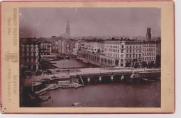 HAMBOURG - Kleine Alster Und Arkaden - Photo Ancienne 9,5 X 13,5  Sur Carton - Photo.  Atelier HERMANN PRIESTER - Alte (vor 1900)