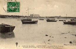 LARMOR BADEN La Propriété Du Grand Air, Au Fond L'ille De Berder...bateaux - Larmor-Plage