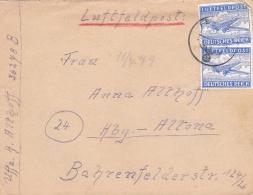 Feldpost WW2: Double Airmail From Dünaburg (Daugavpils, Latvia) Artillerie-Regiment 225 (4./II) FP 36278B P/m 14.7.1944 - Militaria