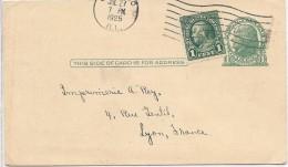 LDR6B-ETATS UNIS EP CP REPIQUAGE THE JOHN CRERAR LIBRARY CIRCULEE 27/7/1925