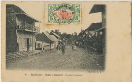 Saint Benoit La Reunion 10 Route Nationale Cliché L.A.G. Timbrée La Riviere 1913 Vers Tananarive Madagascar - Saint Benoît